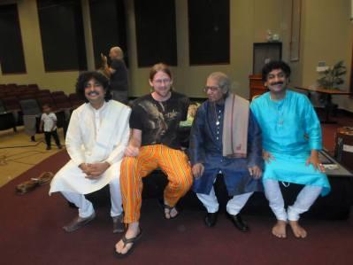 With Pandit Ramesh Mishra (Sarangi) and Gourisankar (Tabla), in Austin