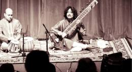 With Nikhil Tikekar (Tabla) at Duke University