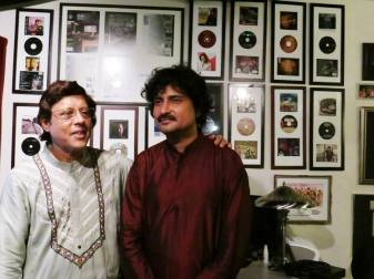 With Pdt. Anindo Chatterjee at Eclectica Studios