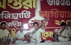 With my Guruji, Pandit Kartick Kumar, Antara School