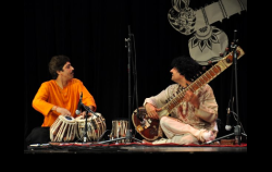 With Shantilal Shah (Tabla) at Hindu Temple in Houston