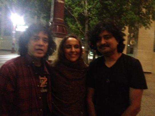 With Pdt. Zakir Hussain and Antonio Minacola