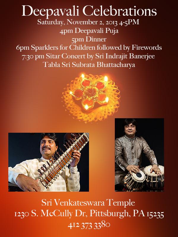 Deepavali Celebration Venkateswara Temple, Pittsburgh