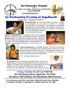 Violin and Sitar Concert