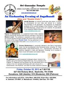 Violin and Sitar Concert