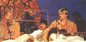 With Sting at Channel V (Delhi-Jawaharlal Nehru Stadium)