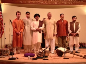 Maharishi Radiance Dome with students and well-wishers, Shiv Naimpally (Tabla)