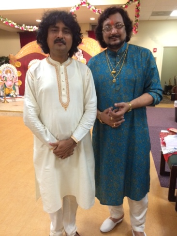 With Pandit Kumar Bose after the concert of BAGC - Chicago